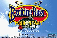 Title screen of the game Exciting Bass on Nintendo GameBoy Advance