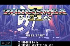 Title screen of the game Zoids Saga II on Nintendo GameBoy Advance