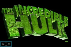 Title screen of the game Incredible Hulk, The on Nintendo GameBoy Advance