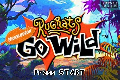 Title screen of the game Rugrats - Go Wild on Nintendo GameBoy Advance