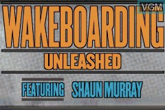 Title screen of the game Wakeboarding Unleashed Featuring Shaun Murray on Nintendo GameBoy Advance