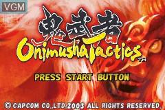 Title screen of the game Onimusha Tactics on Nintendo GameBoy Advance
