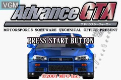 Title screen of the game Advance GTA on Nintendo GameBoy Advance