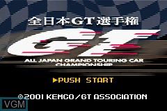 Title screen of the game Zen-Nihon GT Senshuken on Nintendo GameBoy Advance