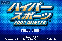 Title screen of the game Hyper Sports 2002 Winter on Nintendo GameBoy Advance