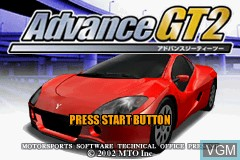 Title screen of the game Advance GT2 on Nintendo GameBoy Advance