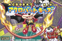 Title screen of the game Acrobat Kid on Nintendo GameBoy Advance