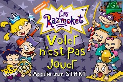 Title screen of the game Razmoket, Les - Voler N'est Pas Jouer on Nintendo GameBoy Advance