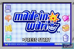 Title screen of the game Made in Wario on Nintendo GameBoy Advance
