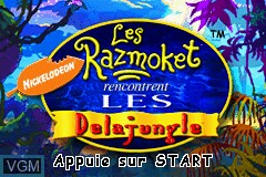 Title screen of the game Razmoket Rencontrent les Delajungle, Les on Nintendo GameBoy Advance