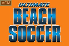 Title screen of the game Ultimate Beach Soccer on Nintendo GameBoy Advance