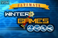 Title screen of the game Ultimate Winter Games on Nintendo GameBoy Advance