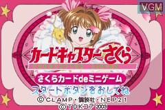 Title screen of the game Cardcaptor Sakura - Sakura Card de Mini Game on Nintendo GameBoy Advance