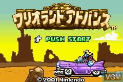 Title screen of the game Wario Land Advance - Youki no Otakara on Nintendo GameBoy Advance