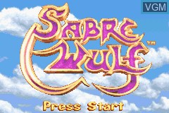Title screen of the game Sabre Wulf on Nintendo GameBoy Advance