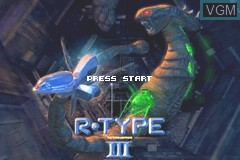 Title screen of the game R-Type III - The Third Lightning on Nintendo GameBoy Advance