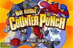 Title screen of the game Wade Hixton's Counter Punch on Nintendo GameBoy Advance