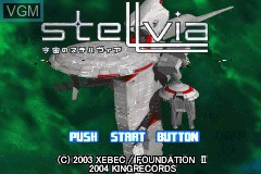 Title screen of the game Uchuu no Stellvia on Nintendo GameBoy Advance