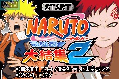 Title screen of the game Naruto - Saikyou Ninja Daikesshuu 2 on Nintendo GameBoy Advance