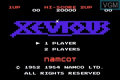 Title screen of the game Classic NES Series - Xevious on Nintendo GameBoy Advance