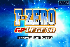 Title screen of the game F-Zero - GP Legend on Nintendo GameBoy Advance