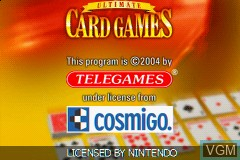 Title screen of the game Ultimate Card Games on Nintendo GameBoy Advance
