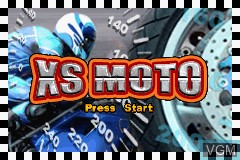 Title screen of the game XS Moto on Nintendo GameBoy Advance