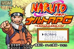 Title screen of the game Naruto RPG - Uketsugareshi Hi no Ishi on Nintendo GameBoy Advance