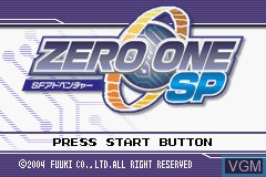 Title screen of the game Zero One SP on Nintendo GameBoy Advance