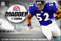 Title screen of the game Madden NFL 2005 on Nintendo GameBoy Advance