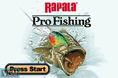Title screen of the game Rapala Pro Fishing on Nintendo GameBoy Advance