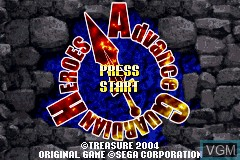 Title screen of the game Advance Guardian Heroes on Nintendo GameBoy Advance