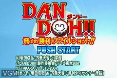Title screen of the game Dan Doh!! Tobase Shouri no Smile Shot on Nintendo GameBoy Advance