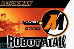Title screen of the game Action Man - Robot Atak on Nintendo GameBoy Advance