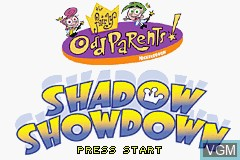 Title screen of the game Fairly OddParents!, The - Shadow Showdown on Nintendo GameBoy Advance