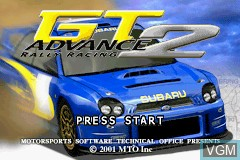 Title screen of the game GT Advance 2 - Rally Racing on Nintendo GameBoy Advance