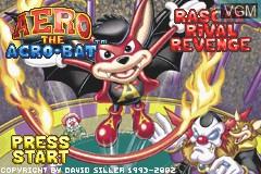 Title screen of the game Aero the Acro-Bat - Rascal Rival Revenge on Nintendo GameBoy Advance