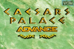 Title screen of the game Caesars Palace Advance - Millennium Gold Edition on Nintendo GameBoy Advance