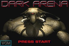 Title screen of the game Dark Arena on Nintendo GameBoy Advance