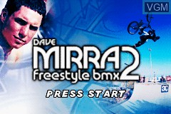 Title screen of the game Dave Mirra Freestyle BMX 2 on Nintendo GameBoy Advance