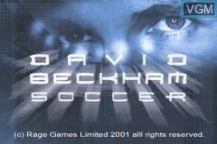 Title screen of the game David Beckham Soccer on Nintendo GameBoy Advance