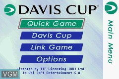 Title screen of the game Davis Cup on Nintendo GameBoy Advance