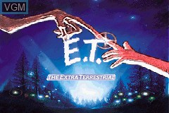 Title screen of the game E.T. - The Extra-Terrestrial on Nintendo GameBoy Advance