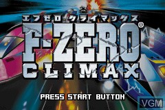 Title screen of the game F-Zero - Climax on Nintendo GameBoy Advance