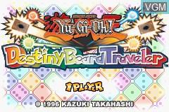 Title screen of the game Yu-Gi-Oh! - Destiny Board Traveler on Nintendo GameBoy Advance