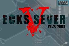 Title screen of the game Ecks V Sever on Nintendo GameBoy Advance