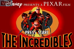 Title screen of the game Incredibles, The on Nintendo GameBoy Advance