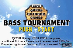 Title screen of the game ESPN Great Outdoor Games - Bass 2002 on Nintendo GameBoy Advance