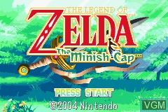 Title screen of the game Legend of Zelda, The - The Minish Cap on Nintendo GameBoy Advance