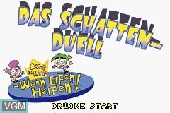 Title screen of the game Cosmo & Wanda - Wenn Elfen Helfen! - Das Schattenduell on Nintendo GameBoy Advance